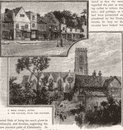 ACTON. High Street, Acton; The Church, from the Rectory 1888 old antique print